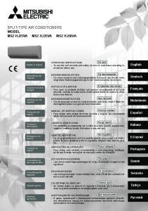 SPLIT-TYPE AIR CONDITIONERS MODEL