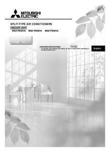 SPLIT-TYPE AIR CONDITIONERS