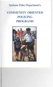 Spokane Police Department's COMMUNITY ORIENTED POLICING PROGRAMS