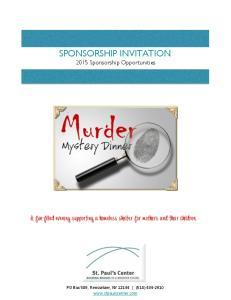 SPONSORSHIP INVITATION 2015 Sponsorship Opportunities
