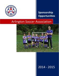 Sponsorship Opportunities. Arlington Soccer Association