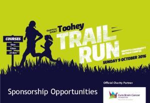 Sponsorship Opportunities. Official Charity Partner