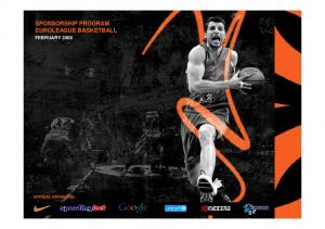 SPONSORSHIP PROGRAM EUROLEAGUE BASKETBALL