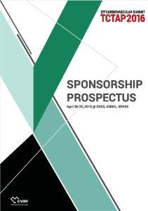 SPONSORSHIP PROSPECTUS. April 26-29, COEX, SEOUL, KOREA