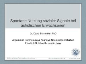 Spontane Nutzung sozialer Signale bei autistischen Erwachsenen