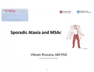 Sporadic Ataxia and MSAc