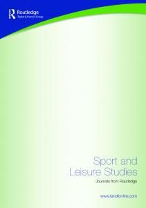 Sport and Leisure Studies. Journals from Routledge