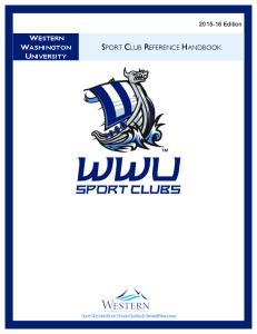 SPORT CLUB REFERENCE HANDBOOK