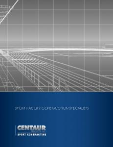 Sport Facility Construction specialists