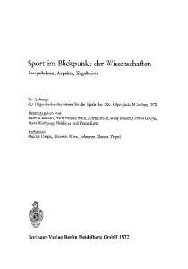 Sport im Blickpunkt cler Wissenschaften