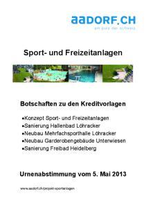 Sport- und Freizeitanlagen