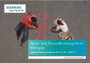 Sport- und Gesundheitsangebote Erlangen