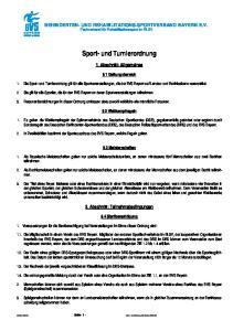 Sport- und Turnierordnung