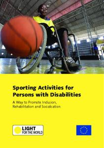 Sporting Activities for Persons with Disabilities