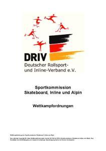 Sportkommission Skateboard, Inline und Alpin