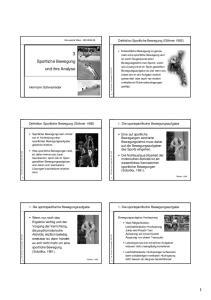Sportliche Bewegung und ihre Analyse
