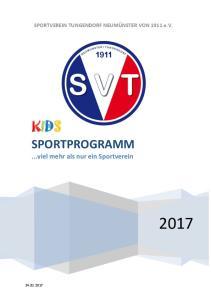 SPORTPROGRAMM...viel mehr als nur ein Sportverein