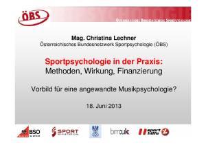 Sportpsychologie in der Praxis: