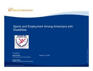 Sports and Employment Among Americans with Disabilities