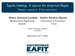 Sports betting: A source for empirical Bayes