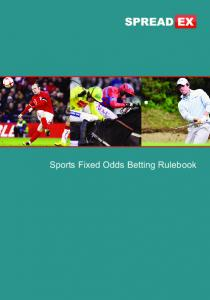 Sports Fixed Odds Betting Rulebook