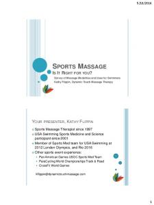 SPORTS MASSAGE IS IT RIGHT FOR YOU?
