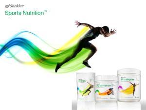 Sports Nutrition. Sports Nutrition. Sports Nutrition