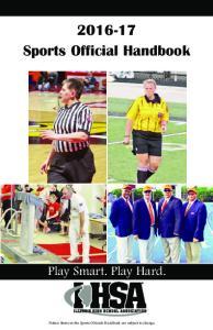 Sports Official Handbook