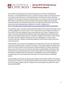Spring 2015 Climate Survey Preliminary Report