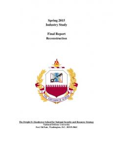 Spring 2015 Industry Study Final Report Reconstruction