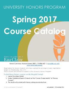 Spring 2017 Course Catalog