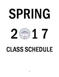 SPRING CLASS SCHEDULE