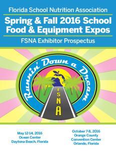 Spring & Fall 2016 School Food & Equipment Expos