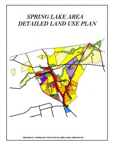 SPRING LAKE AREA DETAILED LAND USE PLAN