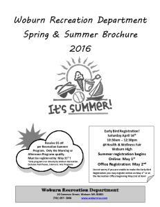 Spring & Summer Brochure 2016