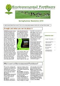 Spring-Summer Newsletter 2010