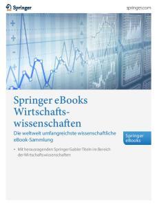 Springer ebooks Wirtschaftswissenschaften