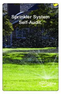 Sprinkler System Self-Audit