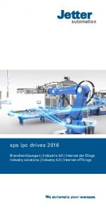 sps ipc drives 2016 Branchenlösungen Industrie 4.0 Internet der Dinge Industry solutions Industry 4.0 Internet of Things We automate your success