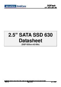 SQFlash 2.5 SATA SSD SATA SSD 630 Datasheet (SQF-S25xx-xG-S9x)
