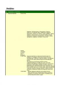 Sr. Classification of Pesticides No. 1 Organophosphates. Some of the