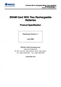 SRAM Card With Two Rechargeable Batteries