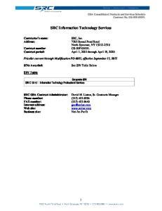 SRC Information Technology Services