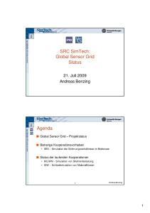 SRC SimTech: Global Sensor Grid Status