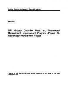 SRI: Greater Colombo Water and Wastewater Management Improvement Program (Project 3) Wastewater Improvement Project