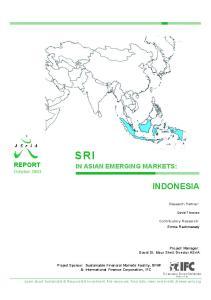 SRI IN ASIAN EMERGING MARKETS: