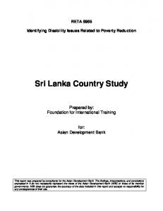 Sri Lanka Country Study