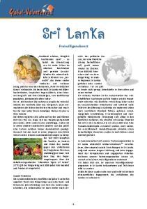 Sri Lanka. Freiwilligendienst