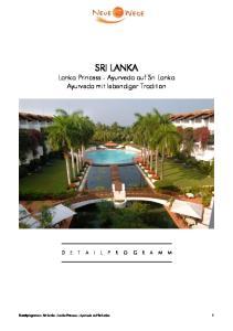 SRI LANKA Lanka Princess - Ayurveda auf Sri Lanka Ayurveda mit lebendiger Tradition