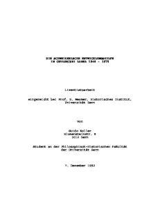 SRI LANKA Lizentiatsarbeit